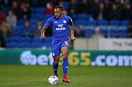 Kadeem Harris of Cardiff City in action. EFL Skybet championship match, Cardiff city v Barnsley at the Cardiff city stadium in Cardiff, South Wales on Tuesday 6th March 2018.<br /> pic by Andrew Orchard, Andrew Orchard sports photography.