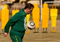 Ivan Simic of NZS during friendly match between Slovenian football journalists and officials of Slovenian football federation at  Hyde Park High School Stadium on June 16, 2010 in Johannesburg, South Africa.  (Photo by Vid Ponikvar / Sportida)