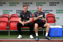 Charlton Athletic manager Karl Robinson (left) and his assistant Lee Bowyer