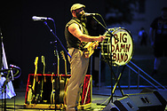 """September 7, 2019, 7:00 pm - 9:00 pm at Levitt <br /> His wife, """"Washboard"""" Breezy Peyton playing with all the nuance and percussive power of a New Orleans drum line, and keeping the train moving is Max Senteney on a lean drum kit including a 5 gallon maple syrup bucket. Together they play Peyton's wildman country blues that's as much ZZ Top as it is Bukka White."""