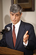 Treasury Secretary Robert Rubin at an event November 19, 1996 in Washington, DC.