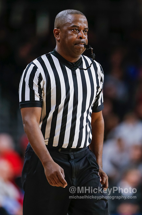 CINCINNATI, OH - JANUARY 02: NCAA referee Pat Adams is seen during the Cincinnati Bearcats and Tulane Green Wave game at Fifth Third Arena on January 2, 2019 in Cincinnati, Ohio. (Photo by Michael Hickey/Getty Images) *** Local Caption *** Pat Adams