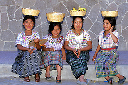 Young Girls With Baskets