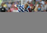 Photo: Lee Earle.<br /> Reading v West Ham United. The FA Barclays Premiership. 01/09/2007.Reading's Bryn Gunnarsson (L) battles with Hayden Mullins.