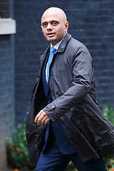 © Licensed to London News Pictures. 02/12/2014. LONDON, UK. Culture Secretary, Sajid Javid attending to a cabinet meeting on Downing Street on Tuesday, 2 December 2014. Photo credit: Tolga Akmen/LNP