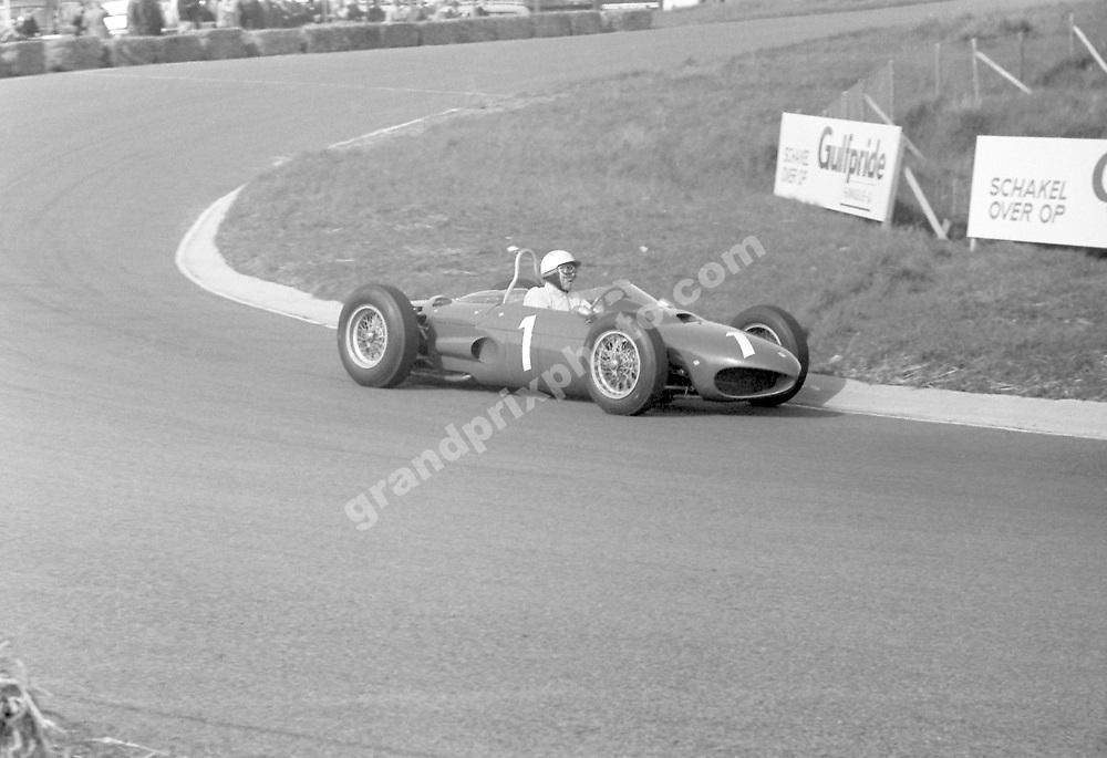 Phil Hill (Ferrari) in the 1962 Dutch Grand Prix at Zandvoort. Photo: Grand Prix Photo