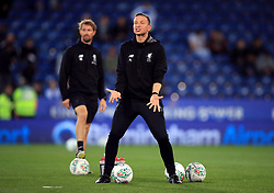 """Liverpool coach Pepijn Lijnders during the Carabao Cup, third round match at the King Power Stadium, Leicester. PRESS ASSOCIATION Photo. Picture date: Tuesday September 19, 2017. See PA story SOCCER Leicester. Photo credit should read: Mike Egerton/PA Wire. RESTRICTIONS: EDITORIAL USE ONLY No use with unauthorised audio, video, data, fixture lists, club/league logos or """"live"""" services. Online in-match use limited to 75 images, no video emulation. No use in betting, games or single club/league/player publications."""