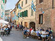Italy, Siena, the Palio: daily life in the contradas, waiting for the final race, Onda contrada