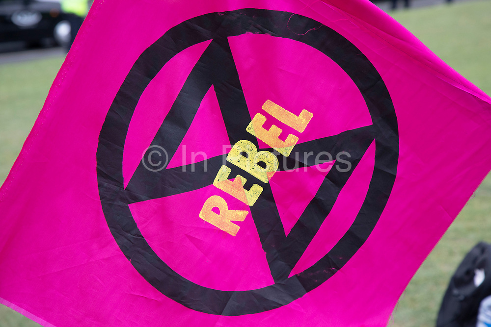 Climate change activists from the Extinction Rebellion group at Parliament Square in protest that the government is not doing enough to avoid catastrophic climate change and to demand the government take radical action to save the planet, on 24th April 2019 in London, England, United Kingdom. Extinction Rebellion is a climate change group started in 2018 and has gained a huge following of people committed to peaceful protests.