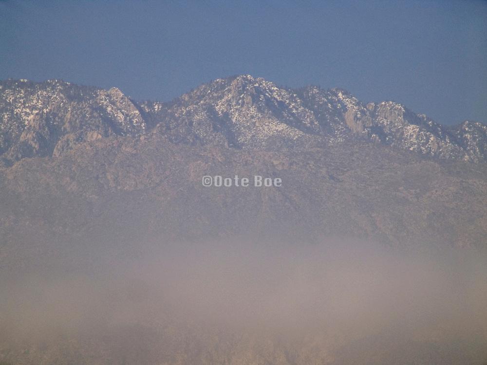 a mountaintop range in California USA