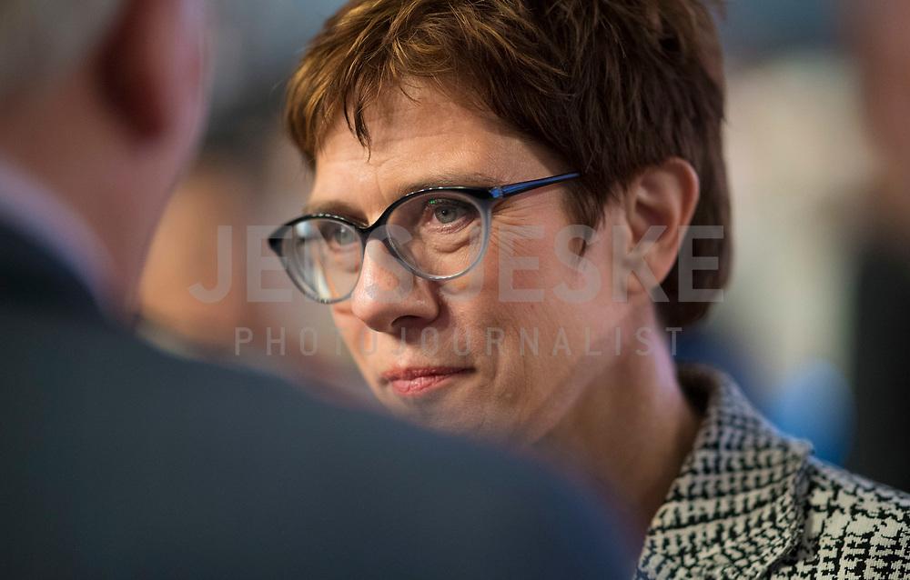 DEU, Deutschland, Germany, Hamburg, 07.12.2018: Die neue CDU-Vorsitzende Annegret Kramp-Karrenbauer beim Bundesparteitag der CDU in der Messe Hamburg.