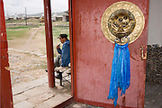 Door decorations at Erdene Zuu monestry Mongolia