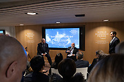 Armen Sarkissian, President of Armenia, Joseph E. Stiglitz, Professor, School of International and Public Affairs (SIPA), Columbia University, USA, speaking in the Balancing Domestic and Global Inequality session at the World Economic Forum Annual Meeting 2020 in Davos-Klosters, Switzerland, 22 January. Congress Centre - Hub A Room. Copyright by World Economic Forum/ Greg Beadle
