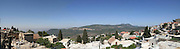 Israel, Tzfat, stitched panorama of the city and the surrounding mountains