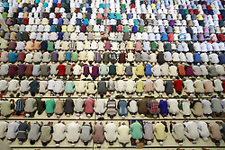 June 23, 2017 - Dhaka, Bangladesh - Thousand of Bangladeshi Muslim people gathered at Baitul Mukarram mosque for Jumatul Wida, the last Friday prayer in the holy month Ramadan, Dhaka, Bangladesh. (Credit Image: © Suvra Kanti Das via ZUMA Wire)