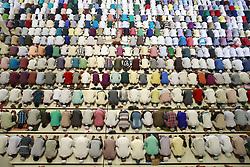 June 23, 2017 - Dhaka, Bangladesh - Thousand of Bangladeshi Muslim people gathered at Baitul Mukarram mosque for Jumatul Wida, the last Friday prayer in the holy month Ramadan, Dhaka, Bangladesh. (Credit Image: © Suvra Kanti Das via ZUMA Wire)