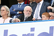 Former Chelsea Chairmen Ken Bates looks on from the stands. Barclays Premier league match, Chelsea v Leicester city at Stamford Bridge in London on Sunday 15th May 2016.<br /> pic by John Patrick Fletcher, Andrew Orchard sports photography.