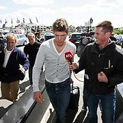 NLD/Noordwijk/20080520 - Voetballers melden zich voor trainingskamp Nederlands Elftal, Klaas Jan Huntelaar