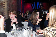 PENNY MORTIMER; EMILY MORTIMER, Party after the opening of 'Flea in her Ear' . The Old Vic. ( John Mortimer write the translation of theplay.) Vinioplois. 14 December 2010. DO NOT ARCHIVE-© Copyright Photograph by Dafydd Jones. 248 Clapham Rd. London SW9 0PZ. Tel 0207 820 0771. www.dafjones.com.