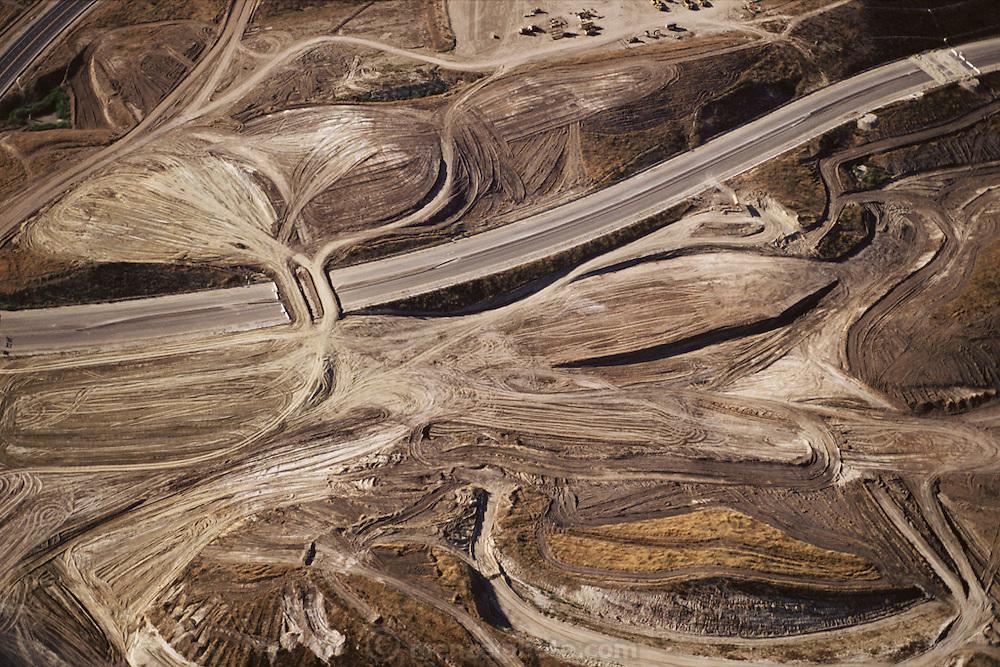 Orange County, California. Massive earth grading for homes and roads. Near Mission Viejo, California.