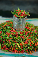 Market in Tobelo town, Halmahera Island, Indonesia.  <br />