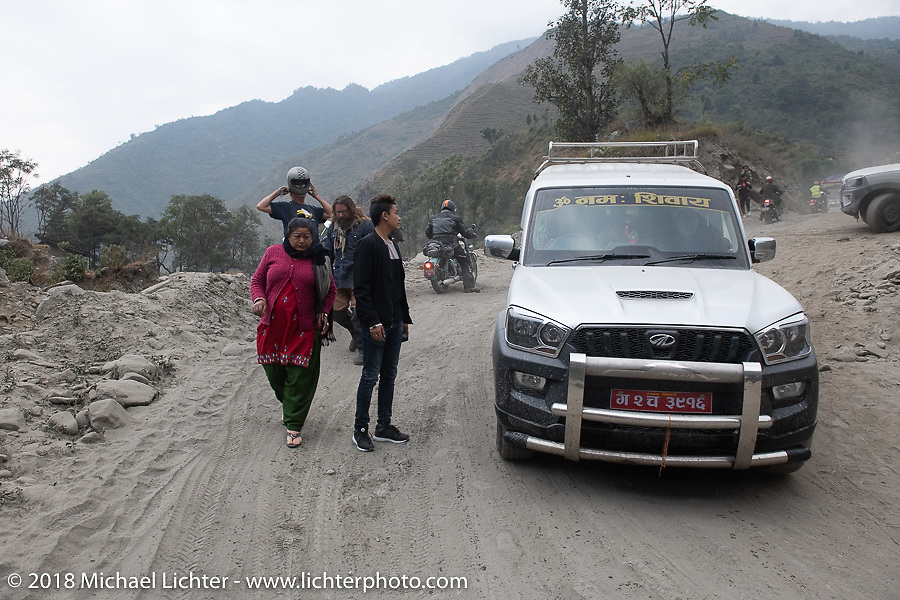 Day-6  of our Himalayan Heroes adventure riding from Muktinath to Tatopani, Nepal. Sunday, November 11, 2018. Photography ©2018 Michael Lichter.