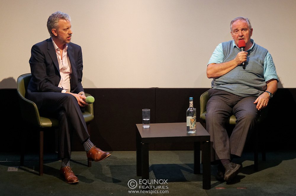 London, United Kingdom - 26 February 2019<br /> DrugScience CEO David Badcock and founder chair, Professor David Nutt, at the screening of film, Magic Medicine at the Regent Street Cinema, Marylebone, London, England, UK. The film follows volunteers receiving experimental treatment with psilocybin, the active ingredient in magic mushrooms, to see if it can help treat long-term depression. DrugScience is a charity researching the medical uses of psychoactive drugs. The film was followed by a Q&A with Professor David Nutt founding chair of DrugScience and Head of the Neuropsychopharmacology Unit in the Centre for Academic Psychiatry in the Division of Brain Sciences, Dept of Medicine, Hammersmith Hospital, Imperial College London. Professor Nutt was formerly chair of the Advisory Council on the Misuse of Drugs.<br /> (photo by: EQUINOXFEATURES.COM)<br /> Picture Data:<br /> Photographer: Equinox Features<br /> Copyright: ©2019 Equinox Licensing Ltd. +448700 780000<br /> Contact: Equinox Features<br /> Date Taken: 20190226<br /> Time Taken: 21194326<br /> www.newspics.com