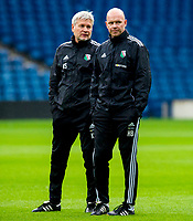 05/08/14<br /> LEGIA WARSAW TRAINING<br /> BT MURRAYFIELD STADIUM - EDINBURGH<br /> Legia Warsaw's manager Henning Berg (right) watches on at training