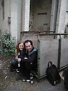 Vicky Steer and David Fryer. Georgina Starr's 'The Bunny Lakes. Emily Tsingou Gallery, Brick Lane. 25 April 2002. © Copyright Photograph by Dafydd Jones 66 Stockwell Park Rd. London SW9 0DA Tel 020 7733 0108 www.dafjones.com