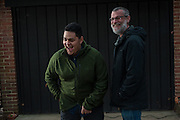 COLUMBIA, MD -- 12/20/14 -- Mark Johnson-Lewis, 48, and his son, Tyler Lewis, 22, talk about the complexity of being a biracial family..…by André Chung #_AC23128