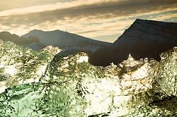 Glacier ice in Kongsfjorden, Svalbard