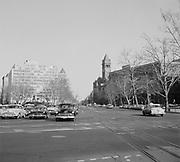 9969-D06. NW 15th & Pennsylvania Ave. looking toward Capitol,  Washington, DC, March 24-April 1, 1957