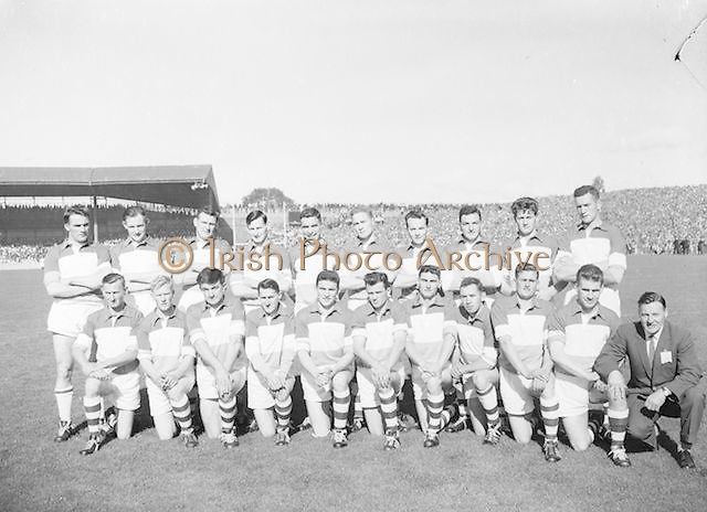 Offaly team before the All Ireland Senior Gaelic Football Final Down v. Offaly in Croke Park on the 24th September 1961. Down 3-6 Offaly 2-8.