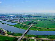Nederland, Gelderland, Kampen, 21–06-2020; provinciale weg N764 gaat over de IJssel. De tuibrug wordt ook De Nieuwe brug genoemd.<br /> Provincial road N764 crosses the IJssel. The cable-stayed bridge is also called The new bridge.<br /> <br /> luchtfoto (toeslag op standaard tarieven);<br /> aerial photo (additional fee required)<br /> copyright © 2020 foto/photo Siebe Swart