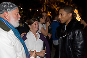 BRUCE WEBER; NAN BUSH; PHARRELL WILLIAMS, The Launch of Visionaire 55 Surprise in collaboration with Krug. Raleigh Hotel. Art Basel Miami Beach. 4 December 2008 *** Local Caption *** -DO NOT ARCHIVE -Copyright Photograph by Dafydd Jones. 248 Clapham Rd. London SW9 0PZ. Tel 0207 820 0771. www.dafjones.com