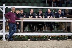 Jury, Stefan De Smet, Herman Bode, Herman Van den Broeck, Inge Meurrens, Tom Heylen, Jef Goyvaerts<br /> BWP Hengsten keuring Koningshooikt 2015<br /> © Hippo Foto - Dirk Caremans<br /> 23/01/16