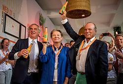 04-08-2016 BRA: Olympic Games day -2, Rio de Janeiro<br /> Michel de Carvalho, Charlene de Carvalho en Andre Bolhuis tijdens de officiele opening van het Holland Heineken House in Ipanema voorafgaand aan de Olympische Spelen in Rio