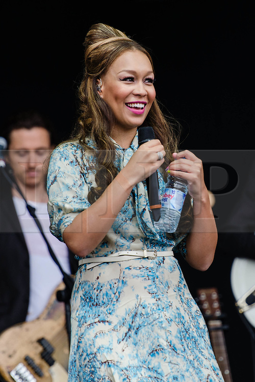 © Licensed to London News Pictures. 31/07/2012. London, UK.  Rebecca Ferguson performs live at BT London Live at Hyde Park. Rebecca Caroline Ferguson (born 21 July 1986)[1] is a British singer and songwriter. Ferguson came to prominence in 2010 when she became the runner-up on the seventh series of the The X Factor.  Photo credit : Richard Isaac/LNP
