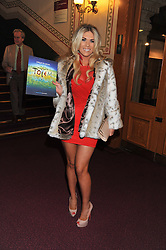 FRANKIE ESSEX attends the premier of 2012 Cirque du Soleil's Totem at the Royal Albert Hall, London on 5th January 2012,