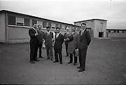 30/06/1965<br /> 06/30/1965<br /> 30 June 1965<br /> Japanese Trade Delegation visit Leinster A.I. Station, Clondalkin, Dublin. Image shows (l-r): Mr. Edward O'Mahon, (Department of Agriculture); Mr. Richard Richards, Veterinary Director, Leinster A.I. Cattle Breeding Station; Mr. M. Ishikawa (General Manager Kamaganaken Daiichi Dairy, Japan);  Mr. Y. Katsurashima, (Chief of Dairy Farming Section of Morinaga Milk Industry Co. Ltd.); Mr. Charles Vaughan, (Secretary, Dublin District Milk Board); Mr. M. Araki (Toshoku Ltd., London);  and Mr. Roderick Murphy, Trade Advisor, Coras Trachtala.
