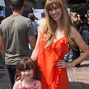 NLD/Amsterdam/20130713 - AFW 2013 Zomer, modeshow Supertrash Girls, Beertje van Beers en dochter Tiger Lilly