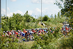 Elisa Longo Borghini (ITA) in the bunch at Stage 2 of 2019 OVO Women's Tour, a 62.5 km road race starting and finishing in the Kent Cyclopark in Gravesend, United Kingdom on June 11, 2019. Photo by Sean Robinson/velofocus.com