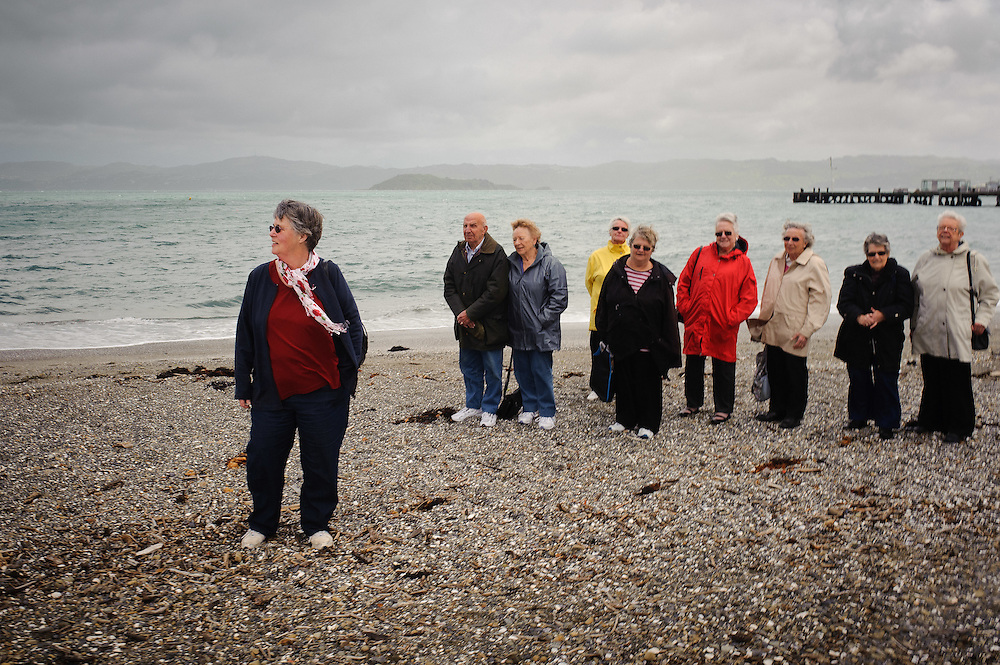 Pat Brodkelbank and the Lifetimers group out on a field trip to Days Bay. Shot for the Porirua City Council. Wednesday November 16, 2011...Photo by Mark Tantrum | www.marktantrum.com