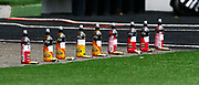 Individual Water Bottles for Millwall players during EFL Sky Bet Championship between Millwall and Derby County at The Den Stadium, Saturday, June 20, 2020, in London, United Kingdom. (ESPA-Images/Image of Sport)