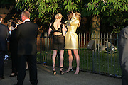 OLYMPIA SCARRY AND SARA BRAJOVIC, The Summer Party in association with Swarovski. Co-Chairs: Zaha Hadid and Dennis Hopper, Serpentine Gallery. London. 11 July 2007. <br />