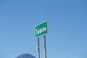 Turipite sign post, Atacama Desert, Chile, South America