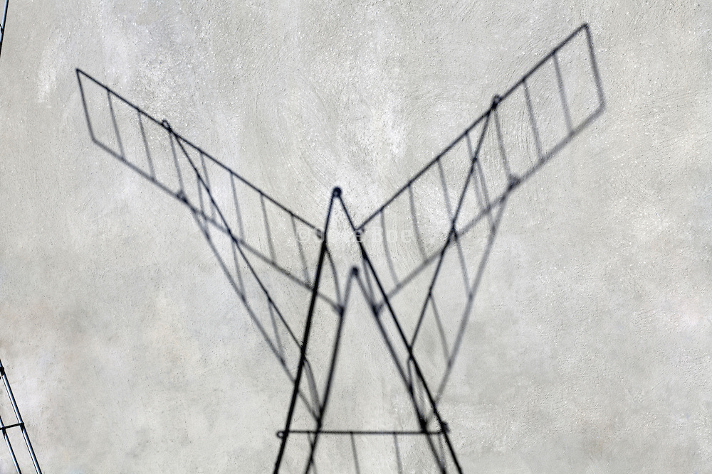shadow of clothing drying rack