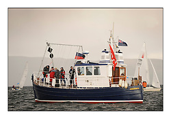 Brewin Dolphin Scottish Series 2010, Tarbert Loch Fyne - Yachting..Day one stated late but resulted in good conditions on Loch Fyne..Stroma Committee Vessel...