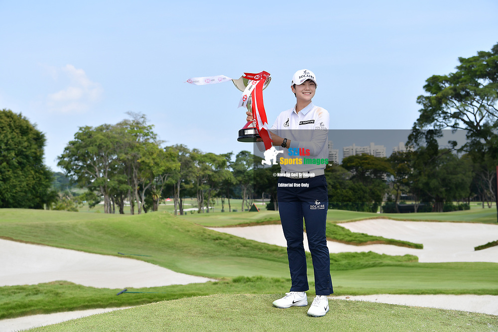 SINGAPORE - MARCH 03: Sung Hyun Park of South Korea is the champion of the HSBC Women's World Championship 2019 at Sentosa Golf Club - Tanjong Course, Singapore on March 03, 2019.<br /> .<br /> .<br /> .<br /> (Photo by: Naratip Golf Srisupab/SEALs Sports Images)<br /> .<br /> Any image use must include a mandatory credit line adjacent to the content which should read: Naratip Golf Srisupab/SEALs Sports Images