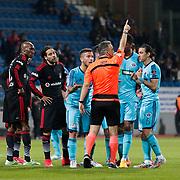 Referee's Mustafa Kemal Abitoglu during their Turkish Superleague soccer match Kasimpasa SK between Besiktas at the Recep Tayyip Erdogan stadium in Istanbul Turkey on Saturday 18 April 2015. Photo by Aykut AKICI/TURKPIX